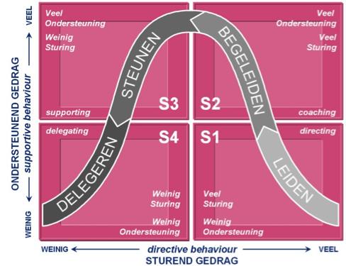 Beeld van Situationeel leiderschap, Nieuwenhuis, M.A., the Art of Management